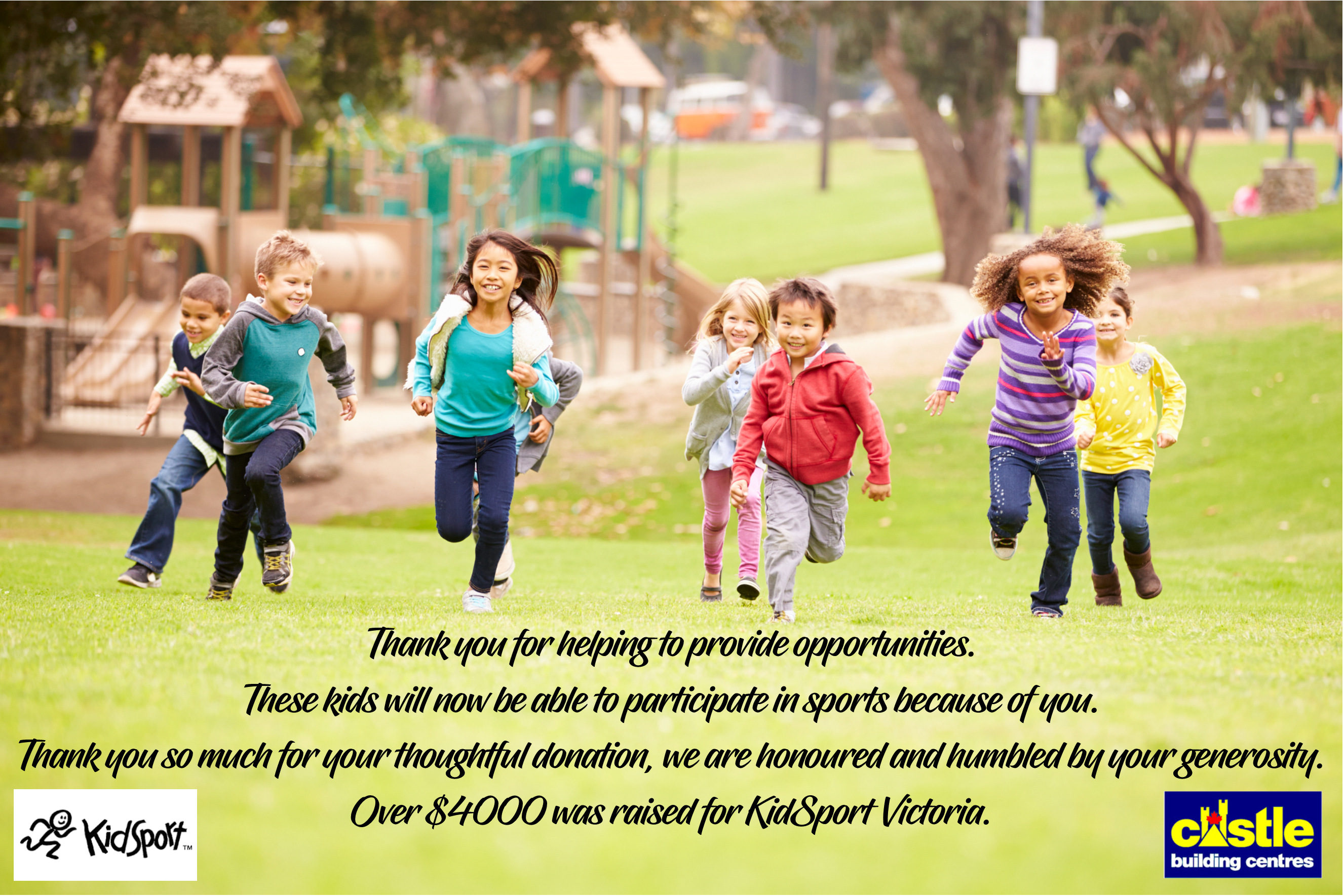Kidsport Thank You
