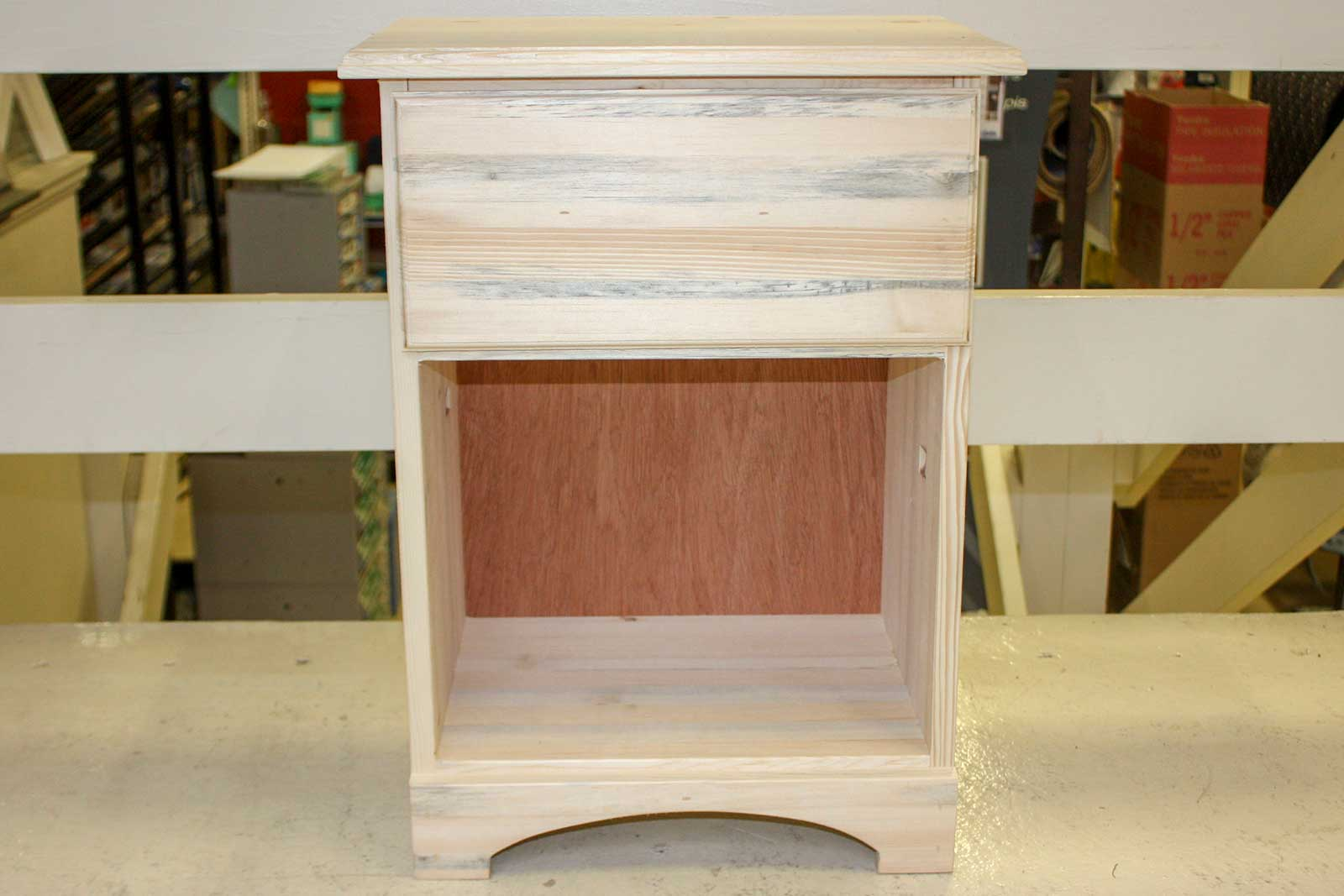 Pine Nightstand with Drawer